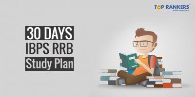 30 Days IBPS RRB Study Plan – Prelims 2019