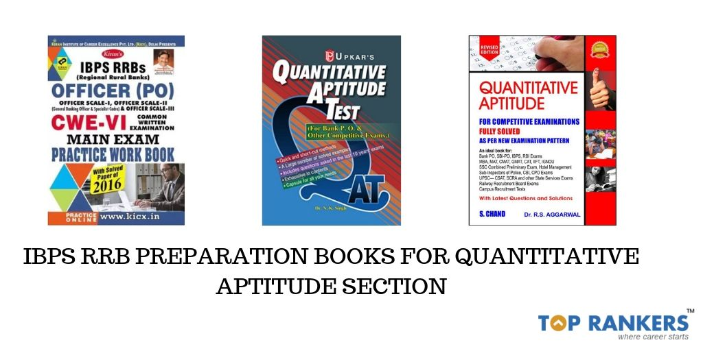 IBPS RRB Preparation Books for Quantitative Aptitude Section