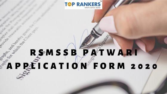 RSMSSB Patwari Application Form