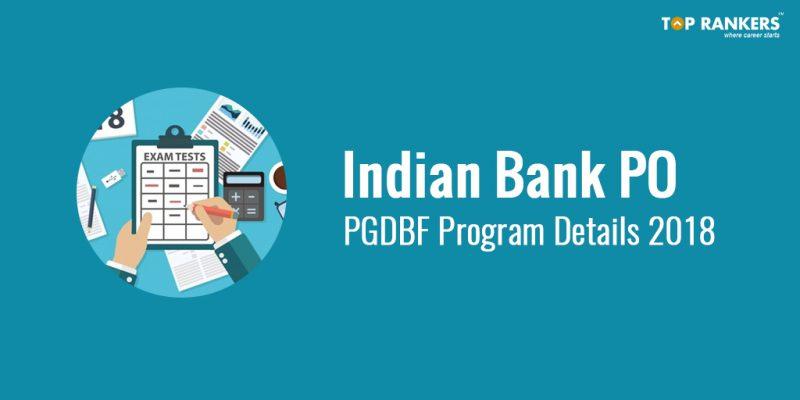 Indian Bank PO PGDBF Programme