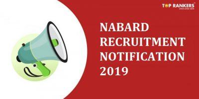 NABARD Recruitment Notification 2019