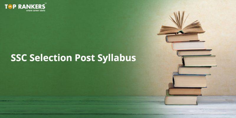 SSC Selection Post Syllabus