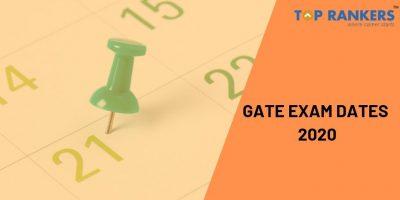 GATE Exam Dates 2020