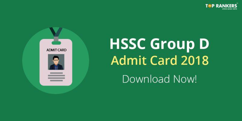 hssc group d admit card