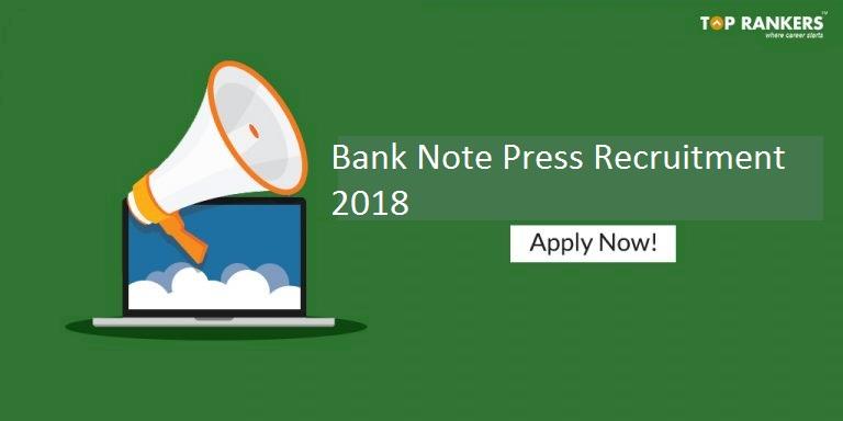 Bank Note Press Recruitment 2018