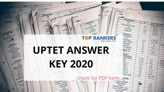 uptet answer key