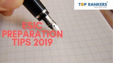 ESIC Preparation Tips for Steno & UDC Exam 2019