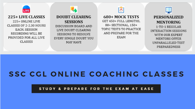 SSC CGL Online Coaching Classes - SSC CGL Coaching Centers in Delhi
