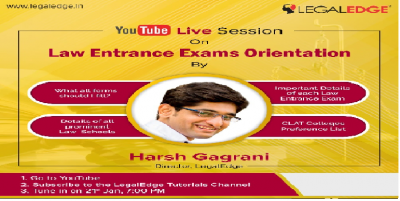 Attend Law Entrance Exam Orientation by Harsh Gagrani | All Law Insights!
