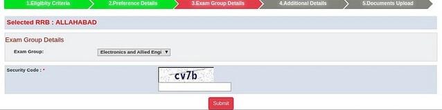 rrb je application form
