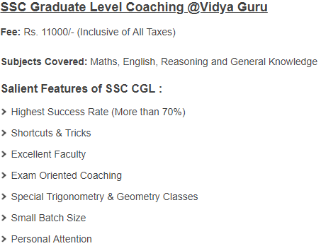 SSC CGL Coaching Centers in Delhi
