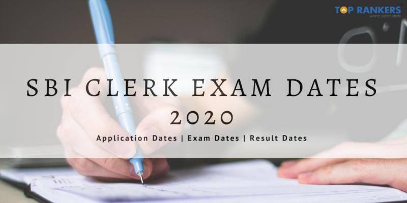 sbi clerk mains exam dates