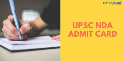UPSC NDA Admit Card 2020