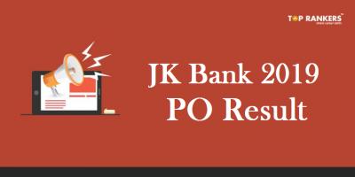 JK Bank PO Result 2019 Released | Download J&K Bank PO Result PDF