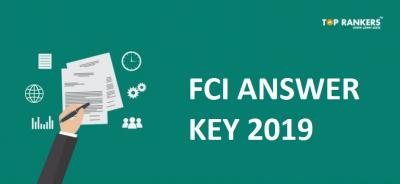 FCI Exam Answer Key 2019