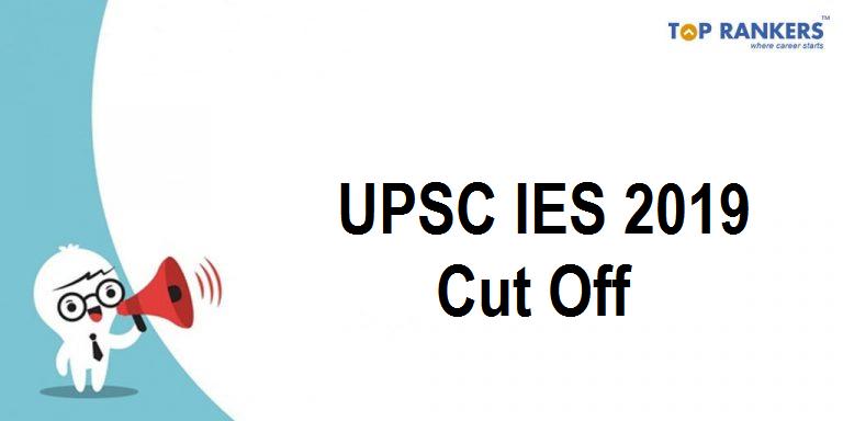 UPSC IES Cut Off 2019