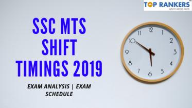 SSC MTS Shift Timings 2020