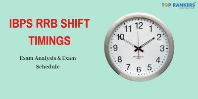 IBPS RRB Shift Timings 2020