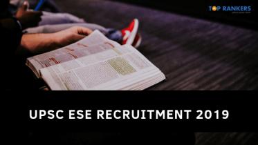 UPSC ESE Recruitment 2019 (Mains)