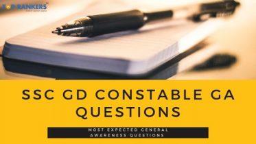 SSC GD Constable GA Questions