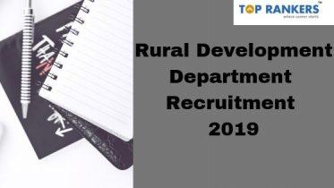 Rural Development Department Recruitment 2019