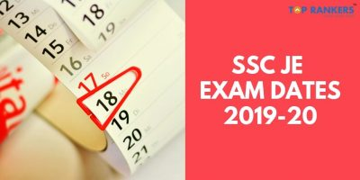 SSC JE Exam Dates 2019-20