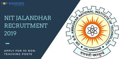 NIT Jalandhar Recruitment 2019