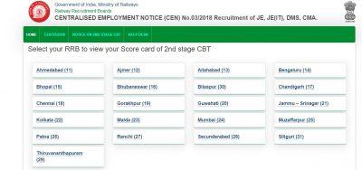 RRB JE CBT 2 Result 2019 Out – Download CBT 2 Scorecard