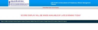 IBPS PO Mains Scorecard 2020 Download PDF Here