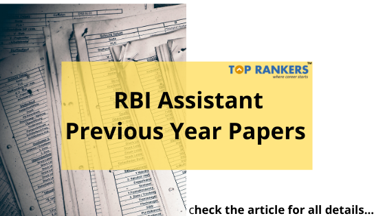 RBI Assistant Previous Year Question papers pdf download
