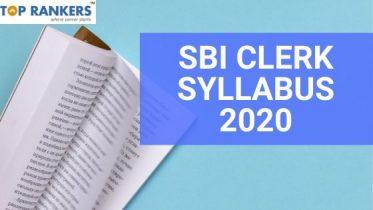 SBI Clerk Mains Syllabus 2020