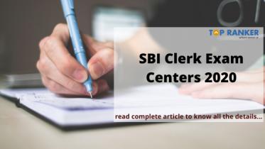 SBI Clerk Exam Centres 2020