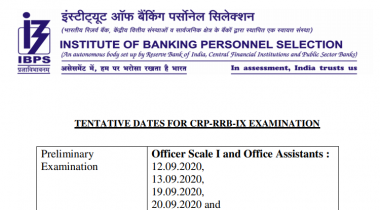 IBPS RRB Exam Dates 2020: Check Complete Exam Schedule