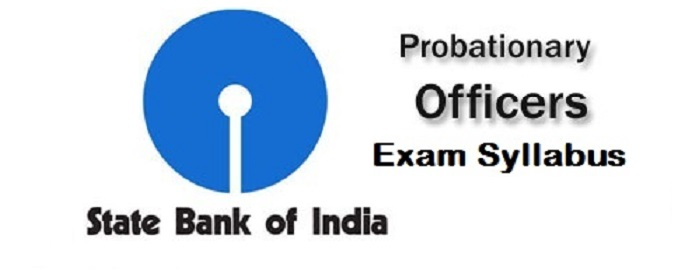 SBI PO - Probationary officers exam syllabus 2016
