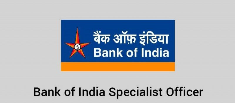 Bank of India to start recruitment of 517 specialist officers.