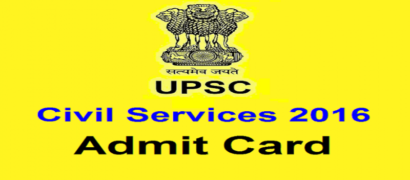 UPSC releases Admit Card/Call letter for civil services/IAS Prelims 2016