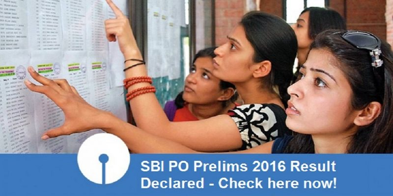 SBI PO Prelims 2016 Result Declared – Check here now!