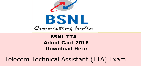 BSNL JE Admit Card 2016 released today - Download Here