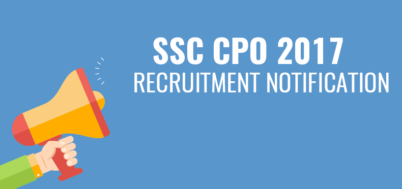 SSC CPO Recruitment 2017