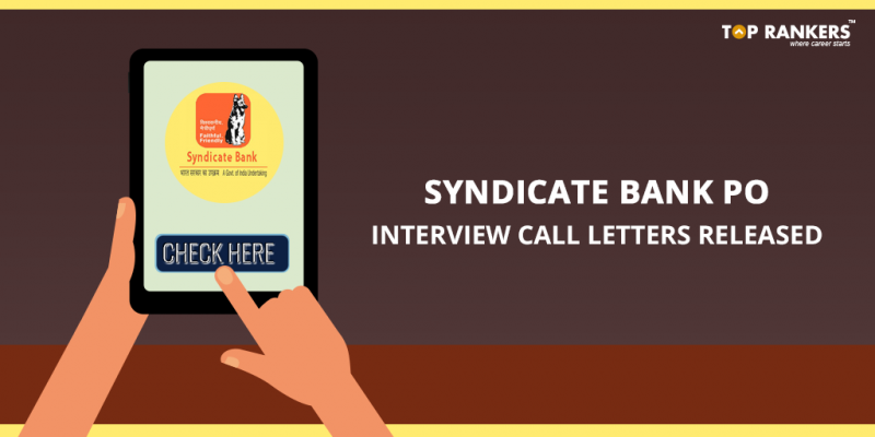Syndicate Bank PO Interview Call Letter