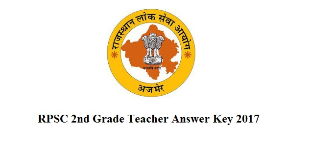 RPSC 2nd Grade Teacher Answer Key 2017