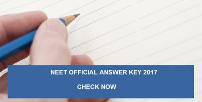 NEET Official Answer Key 2017 – Download Here