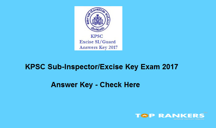KPSC Excise Guard Answer Key 2017