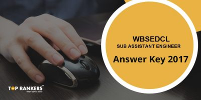 WBSEDCL Sub Assistant Engineer Answer Key 2017