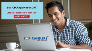 SSC CPO Application Last Date Extended to 16th May 2017