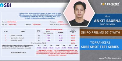 SBI PO Success Story : Ankit Saxena – Cleared SBI PO Prelims 2017