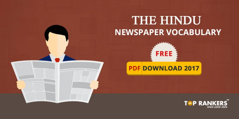 The Hindu Newspaper Vocabulary Free PDF