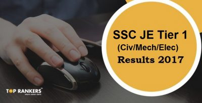 SSC JE Result Declared : Check Tier I 2017 Result & Cut off Marks