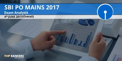 SBI PO Mains Exam Analysis 2017 : 4th June 2017 (Overall)