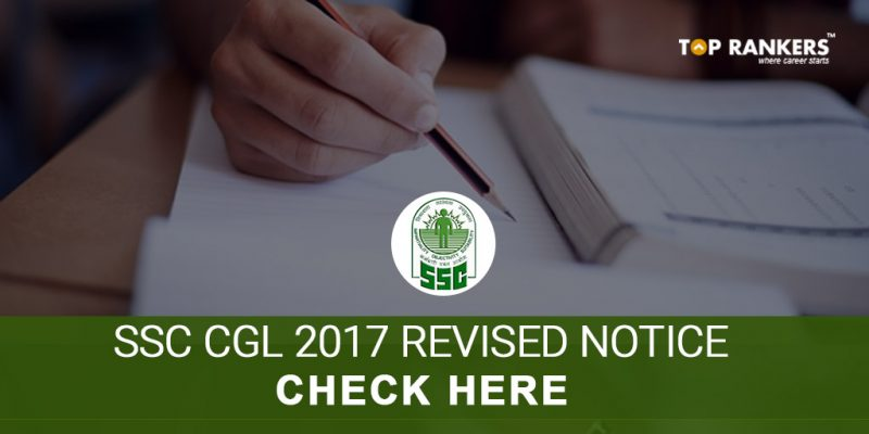 SSC CGL 2017 Revised Notice